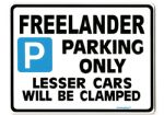 Freelander Large Metal Sign for LAND ROVER tdi gift